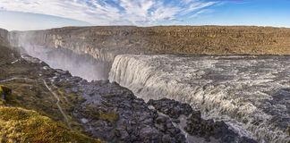 Dettifoss valley panoramic Royalty Free Stock Photos