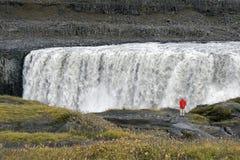 Dettifoss vattenfall - Jokulsargljufur - Island Royaltyfri Fotografi