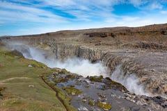 Dettifoss-Wasserfall in Island von oben Stockfoto