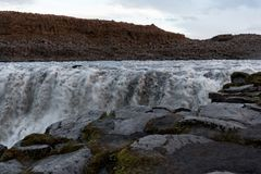 Dettifoss waterfall as background Stock Photo