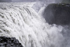 Dettifoss. A waterfall with enormous volume in north Iceland royalty free stock photo