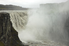 Dettifoss waterfall, Iceland. Dettifoss is most powerful waterfall in Europe Stock Images