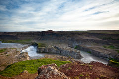 Dettifoss Waterfall in Iceland from above Stock Photography
