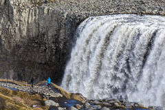 Dettifoss waterfall, Iceland. Royalty Free Stock Images