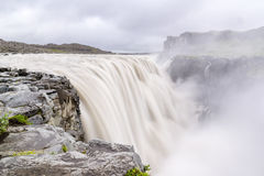 Dettifoss waterfall in Iceland with dirty water Royalty Free Stock Image