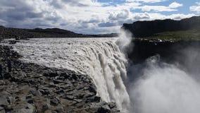 Dettifoss Waterfall Iceland stock photo