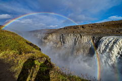 Dettifoss waterfall in Iceland. In Europe royalty free stock photos