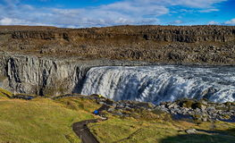 Dettifoss waterfall in Iceland. Famous Dettifoss waterfall in Iceland Royalty Free Stock Photo