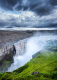 Dettifoss waterfall, Iceland. Famous place in Iceland. Natural landscape in summer. Icelandic classic view.