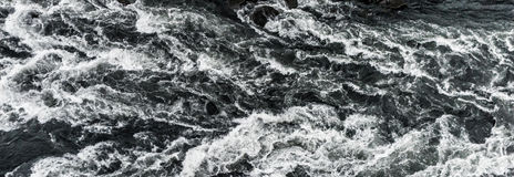Dettifoss Waterfall in Iceland. Panorama of River Waves. Royalty Free Stock Photo