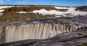 Dettifoss waterfall in Northern Iceland. Long exposure of Dettifoss waterfall, Northern Iceland Royalty Free Stock Images