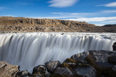 Dettifoss waterfall. Travel in Iceland. Dettifoss waterfall. Autumn travel in Iceland royalty free stock photography