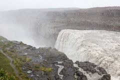 Dettifoss waterfall in Vatnajokull national park. Royalty Free Stock Photo