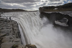 Dettifoss waterfall. A view from east bank royalty free stock images