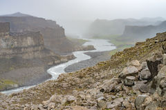 Dettifoss & x28; Jokulsargljufur& x29; canyon, Islanda Immagine Stock Libera da Diritti