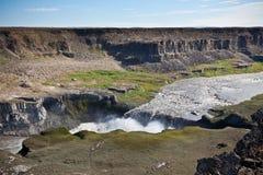 dettifossiceland vattenfall Royaltyfri Foto