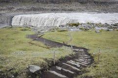 dettifossiceland vattenfall Royaltyfri Bild