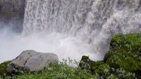 dettifossiceland vattenfall arkivfilmer