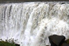dettifossiceland vattenfall royaltyfri fotografi