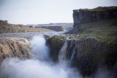 Dettifosswaterval in IJsland bij donker weer Royalty-vrije Stock Afbeeldingen