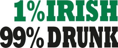 detto irlandese ubriaco dell'Irlandese 99% di 1% Immagine Stock Libera da Diritti