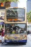 The Deuce Bus service on the strip of Las Vegas - LAS VEGAS - NEVADA - APRIL 23, 2017