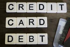 Deuda de la tarjeta de crédito Imagen de archivo libre de regalías