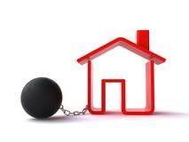 Deuda de las propiedades inmobiliarias Imagenes de archivo