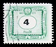 Deuda del franqueo, serie, circa 1953 foto de archivo libre de regalías