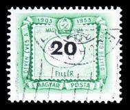 Deuda del franqueo, serie, circa 1953 imágenes de archivo libres de regalías