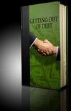 Deuda financiera del libro Foto de archivo