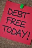 Deuda libre hoy Foto de archivo libre de regalías
