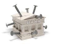 Deudas de banco (concepto creativo) Fotografía de archivo libre de regalías