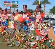 Deuil à Las Vegas après le tir de masse 2017 : Trois croix Image libre de droits