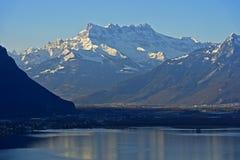 Deuken du Midi, Meer Genève Royalty-vrije Stock Foto's