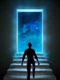 Deur aan heelal stock illustratie