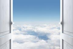 Deur aan hemel Stock Foto's