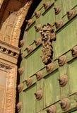 Deur aan kerk Cusco, Peru stock foto