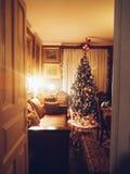 Deur aan Kerstmis Stock Foto