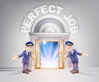Deur aan Perfecte Baan en Doormen Royalty-vrije Stock Afbeeldingen