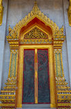 Deur bij Benjamabopit-tempel Royalty-vrije Stock Foto's