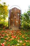 Deur bij de herfst Stock Foto
