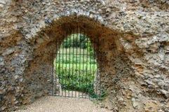 Deur bij Odiham Kasteel, Hampshire Royalty-vrije Stock Afbeeldingen