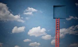 Deur in blauwe hemel Royalty-vrije Stock Afbeelding