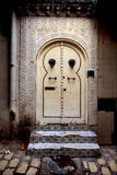 deur in casbha van sousse in Tunesië Stock Fotografie