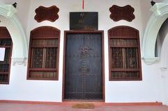 Deur Chinees-Portugese royalty-vrije stock foto