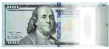 Deur in Dollar Royalty-vrije Stock Afbeeldingen