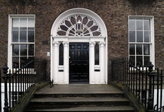 Deur in Dublin Royalty-vrije Stock Afbeelding