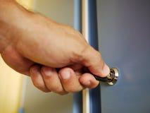 Deur en sleutel stock foto
