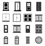 Deur en venster  stock illustratie